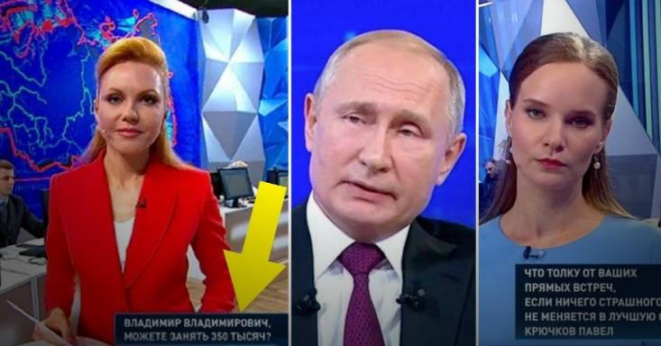 """""""Когда вернется крепостное право?"""" Острые вопросы Путину в эфире (ФОТО)"""