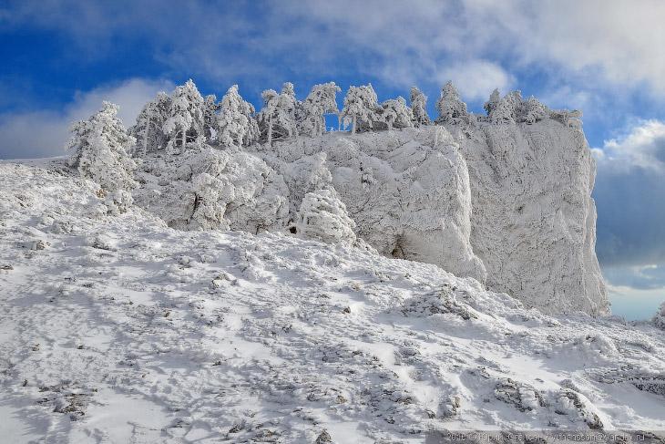 Ледниковый период на Ай-Петри. Зимний Крым.