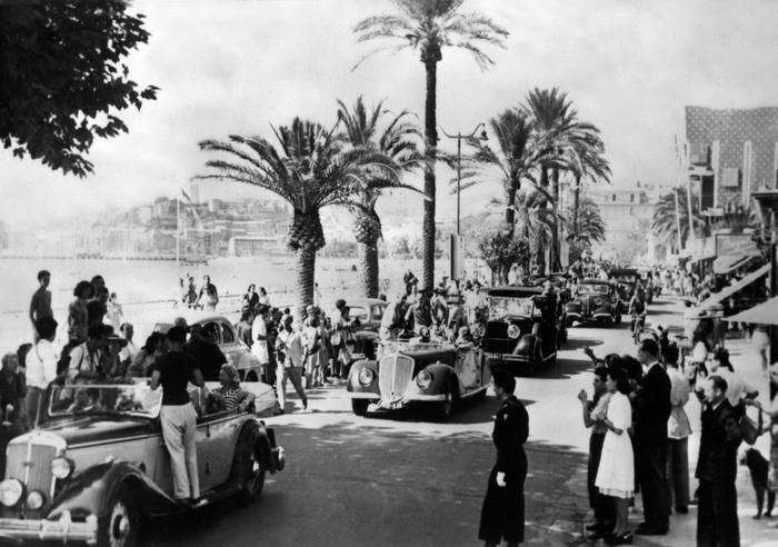 Набережная Круазетт в 1946 году во время первого фестиваля