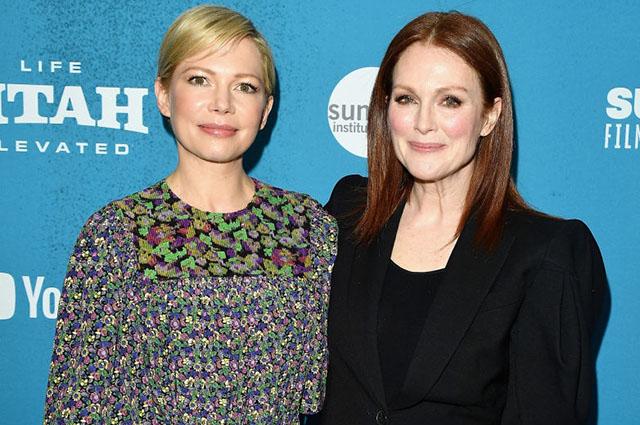Мишель Уильямс и Джулианна Мур на Sundance Film Festival