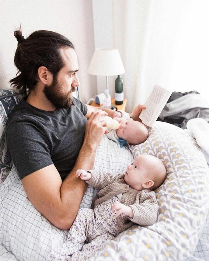 Суперпапа! Любовь, дети, младенцы, нежность, отцы, отцы и дети, родители, фото