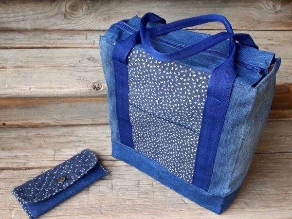 Как сшить сумку-шоппер из джинсов