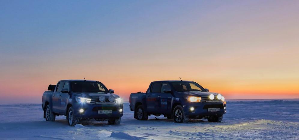 Испытание Крайним Севером: пикапы Toyota Hilux установили рекорд