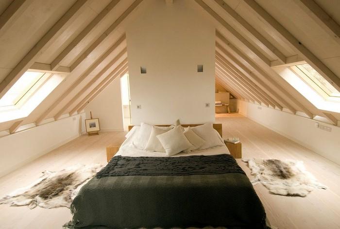 Минимализм для спальни на мансарде фото