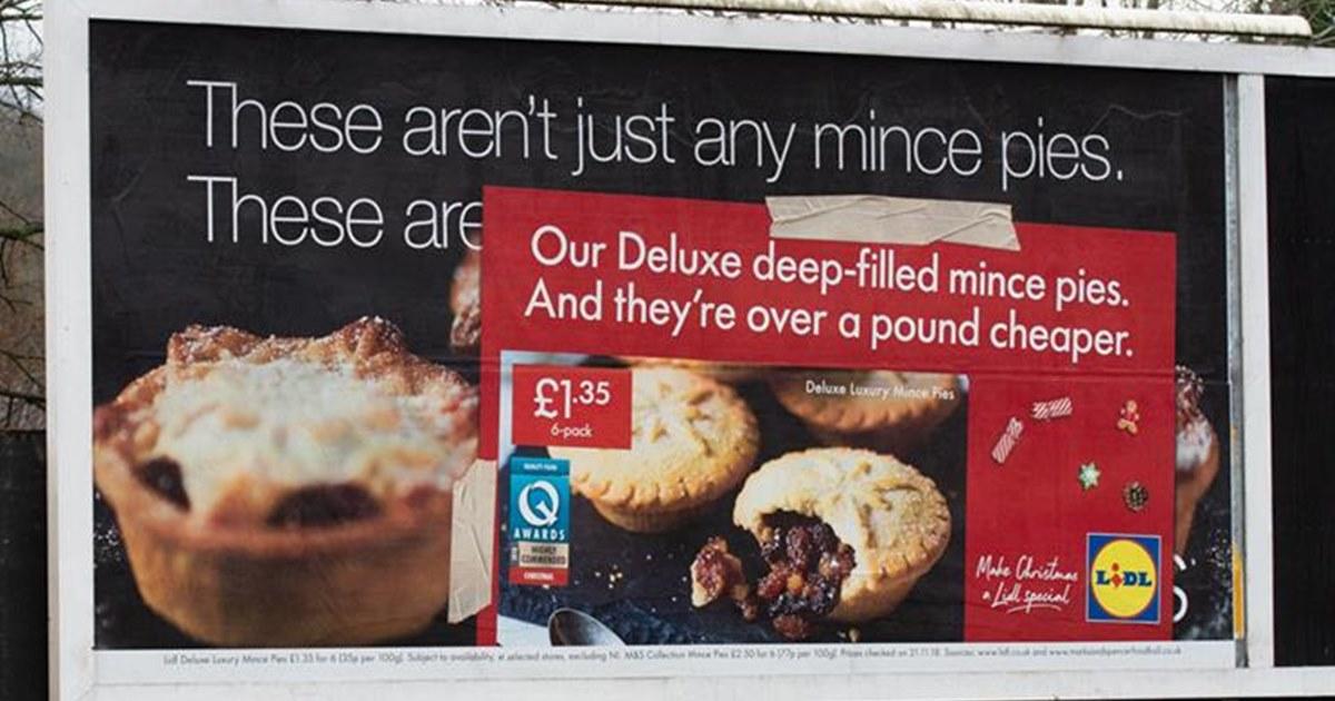 Сеть супермаркетов Lidl «захватила» наружную рекламу своих конкурентов