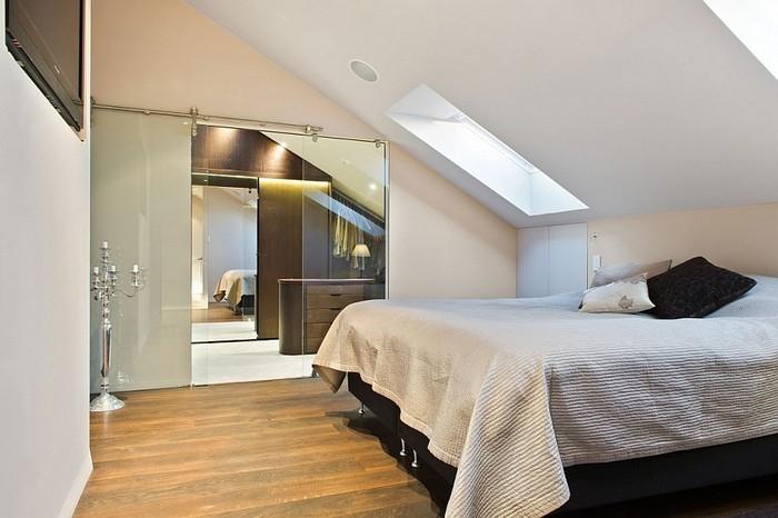 Дизайн спальни на мансарде фото