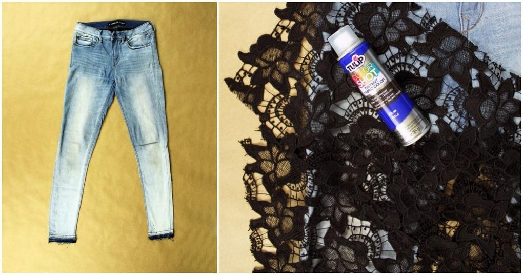 Быстрый и простой способ преображения старых джинсов