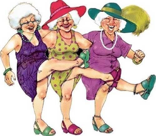 Как-то раз на скамейке у дома престарелых сидели три старухи..