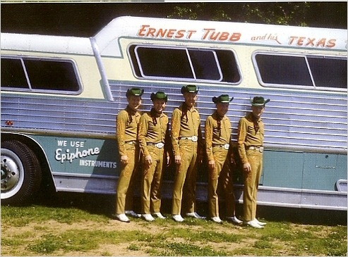 Ernest Tubb Flex Bus with band outside