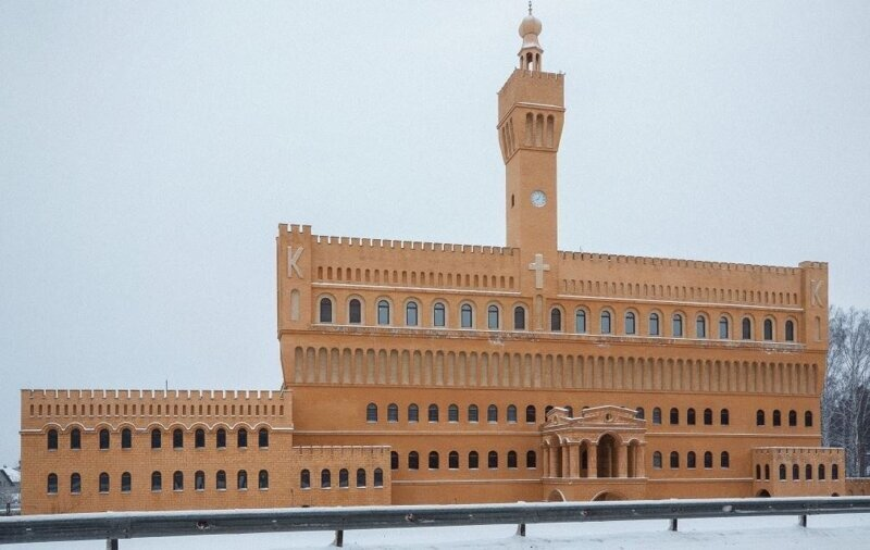 Желтый замок наУрале подешевел на140слишним миллионов рублей архитектура,о недвижимости,Россия