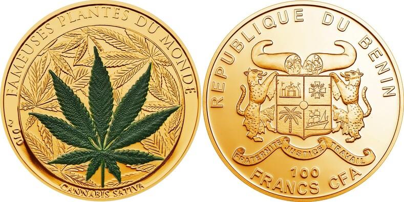 Монета с марихуаной тату конопли на руку