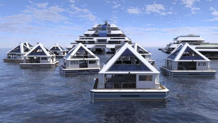 Жилые пирамиды на воде