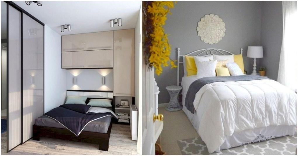 Удачные идеи для маленькой спальни