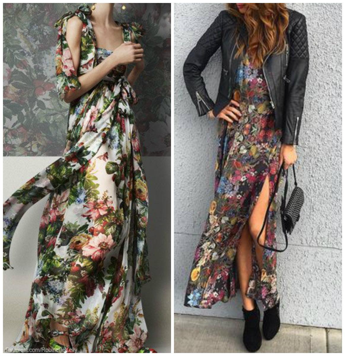 цветочные принты в одежде