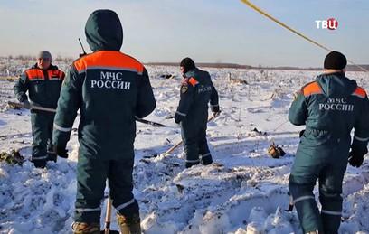 МЧС завершило поисковые работы на месте крушения Ан-148