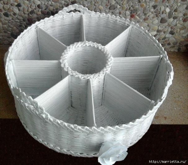 Плетение из газет. Мастер-класс и примеры применения фигурной косички (11) (606x531, 226Kb)