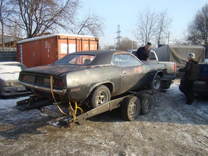 Plymouth Barracuda 1970 восстановленный из хлама