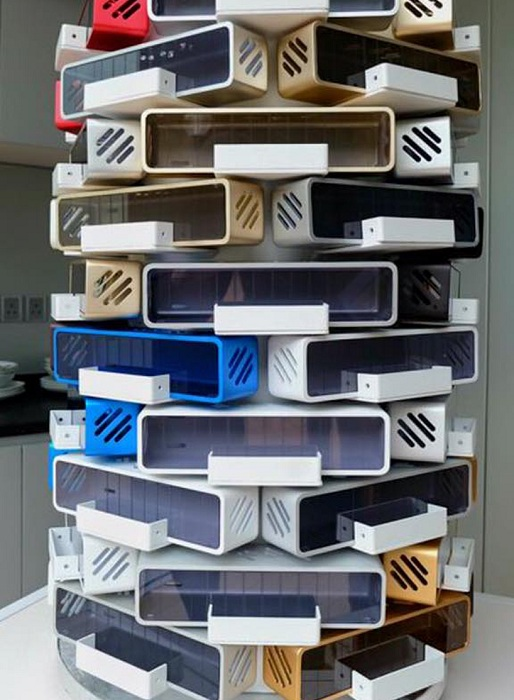 Такие алюминиевые домики могут служить модулями для многоэтажного дома Alpod (Китай). | Фото: designboom.com.