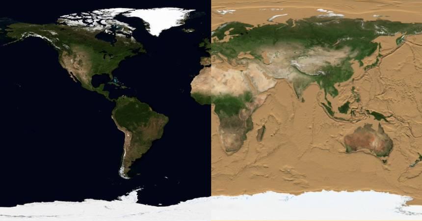 Ученые НАСА показали как будет выглядеть Земля когда высохнут океаны Культура