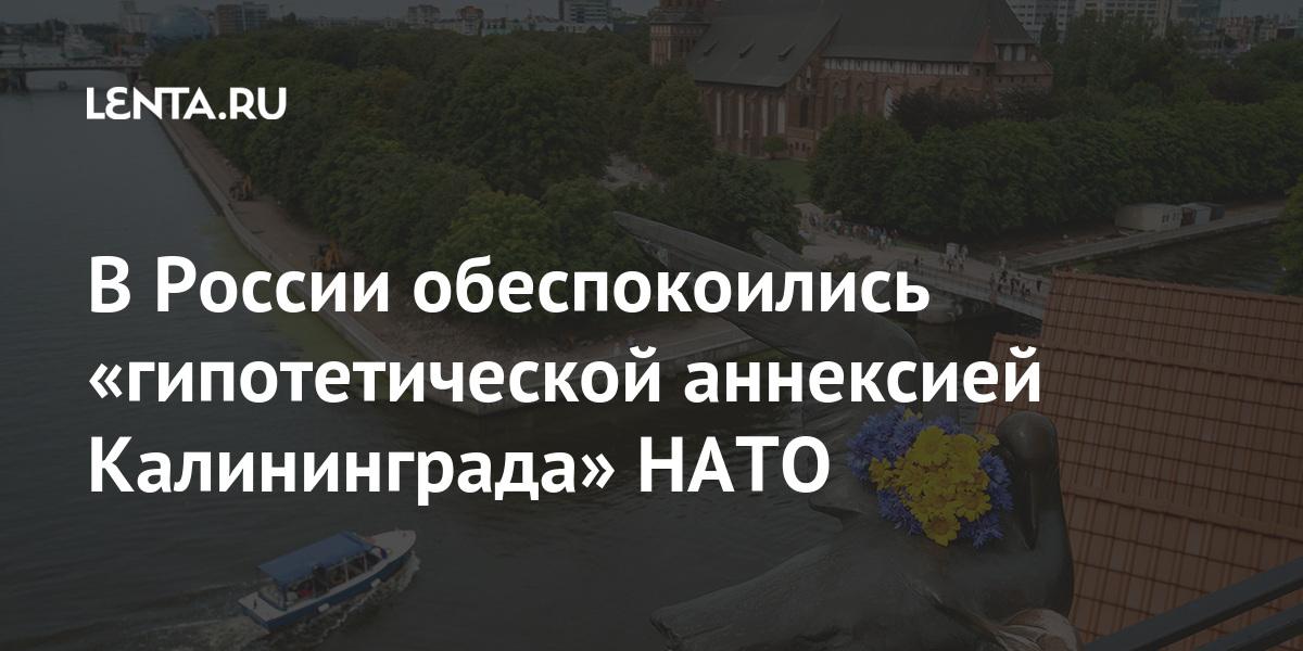 В России обеспокоились «гипотетической аннексией Калининграда» НАТО Наука и техника