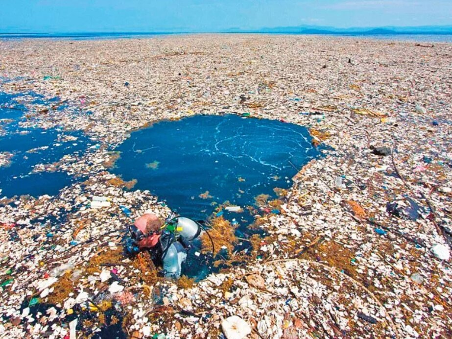 """Самая большая человеческая """"помойка"""", ее видно даже из космоса загрязнение,интересные факты,мусор,наука,проблемы,экология"""