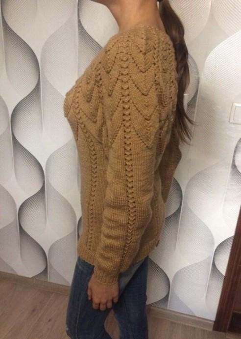 Красивый свитер для любителей вязать спицами вязание спицами,одежда,сделай сам