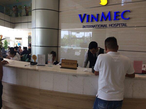 Ресепшен VinMec international hospital. Нячанг. Июнь 2019.