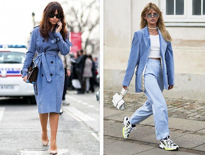 Лазурный оттенок синего в одежде фото