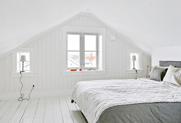 Мансардная спальня в скандинавском стиле фото