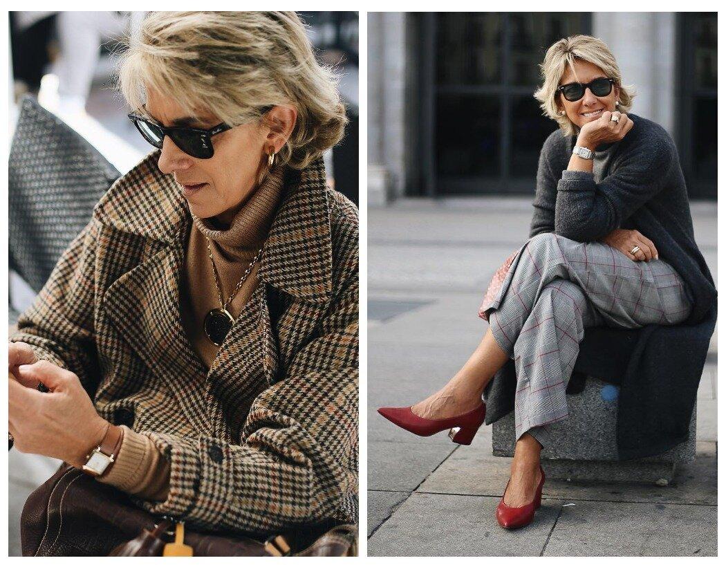Клетчатое пальто или брюки прибавляют элегантности