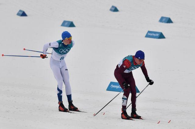 Большунов и Ларьков завоевали медали в лыжной гонке на 50 км