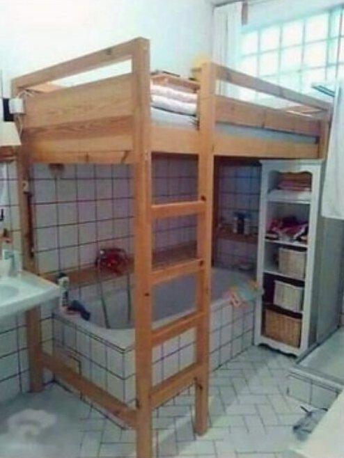 Ванная-спальня в Китае в тесноте, квартир, квартиры, малогабаритка, малогабаритки, студия, тесно