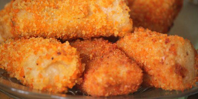 Закуски на скорую руку: куриные пальчики