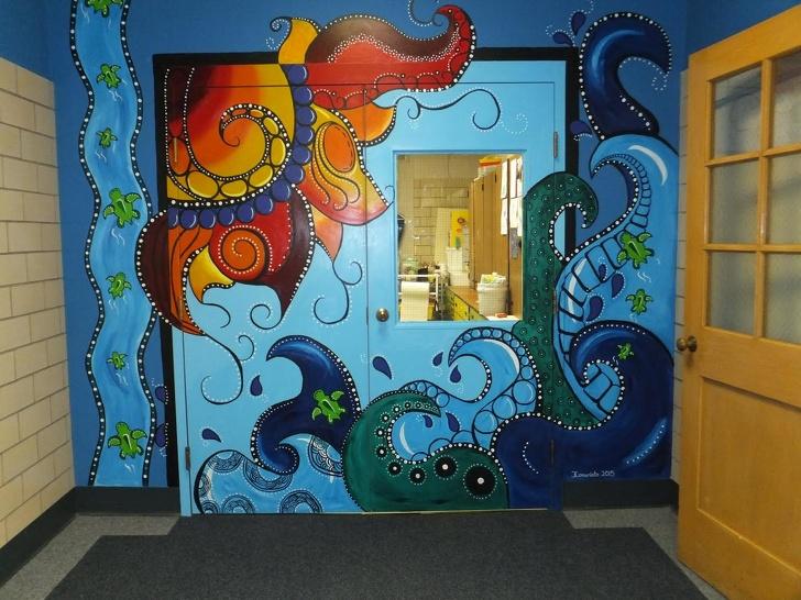 Как раскрасить дверь фото