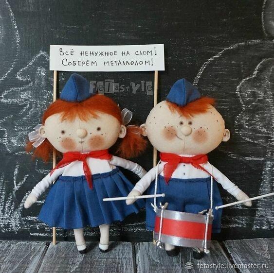 Тряпичные игрушки Fetastyle: глядя на них, не получается удержаться от улыбки и воспоминаний о детстве