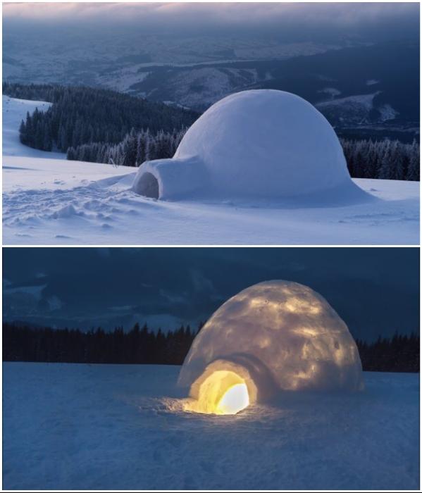 Иглу – традиционное зимнее жилище эскимосов.   Фото: ru.depositphotos.com/ politeka.net.