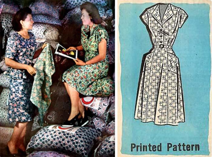 Платья из мешков стали модным экономным трендом в Америке в первой половине XX века
