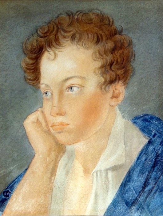 Портрет Пушкина, сделанный, вероятно, его лицейским учителем рисования.