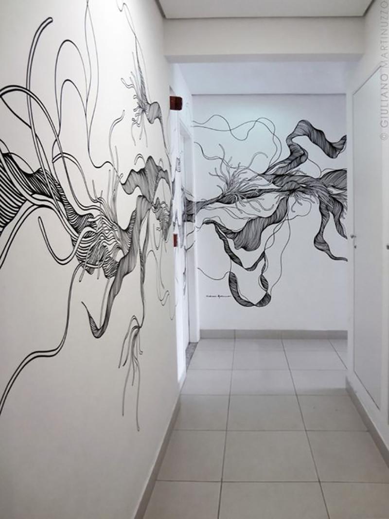 роспись стен в современном интерьере