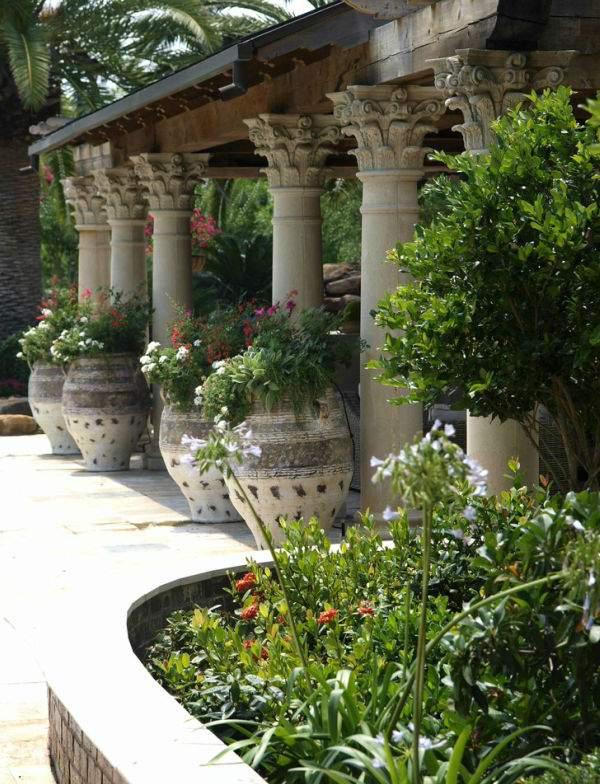 ландшафтный дизайн в итальянском стиле, фото 12