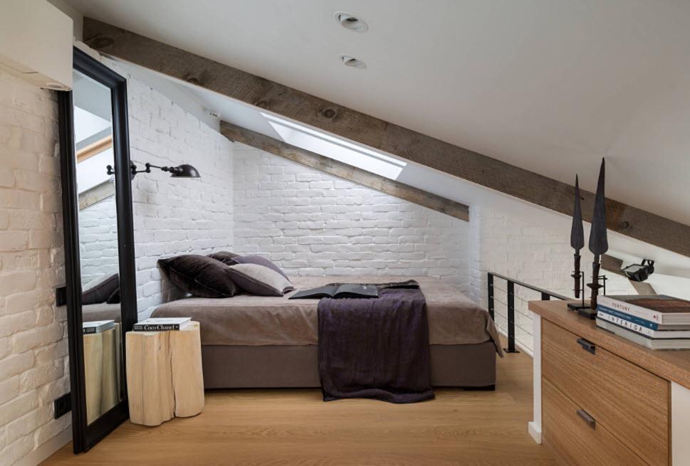 отделка стен кирпичом для мансарды