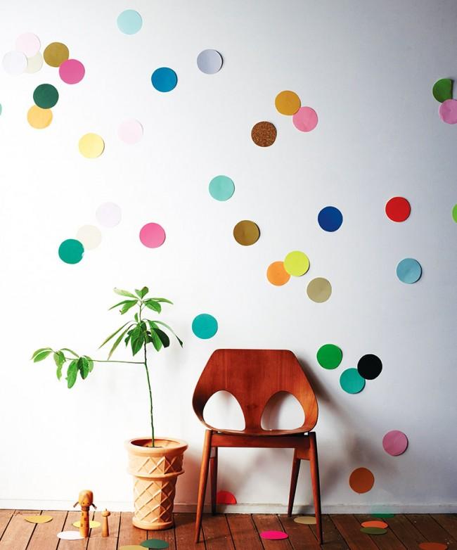 Разноцветный трафаретный горох - гигантское конфетти