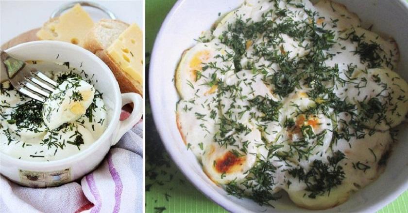 Яйца, запеченные в сметане: еще одно интересное блюдо для завтрака