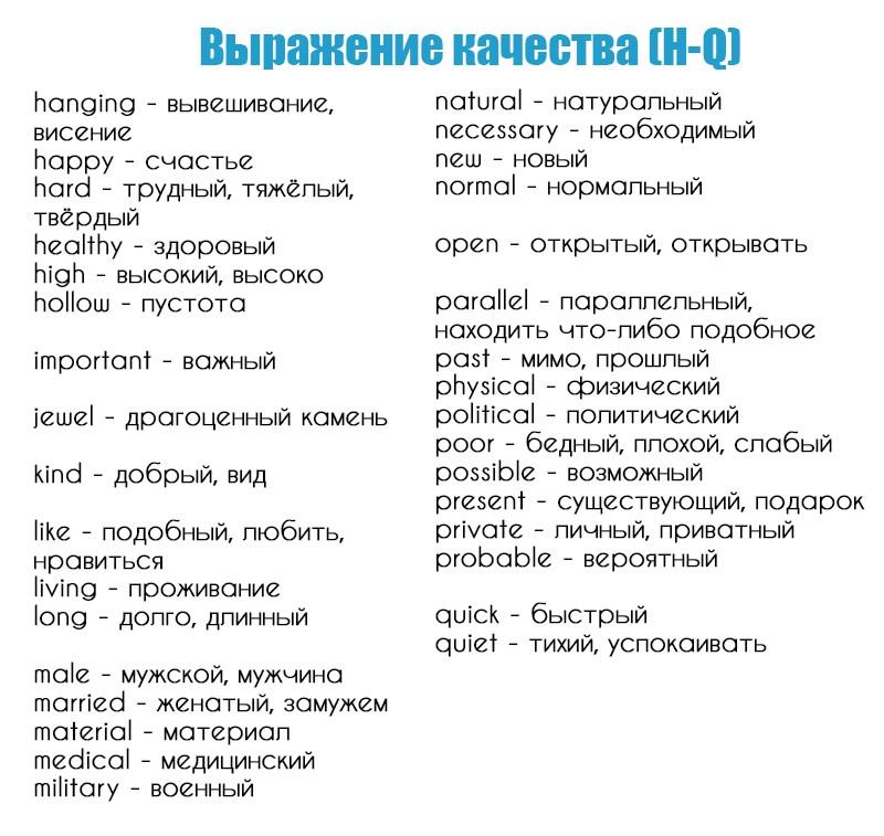 базовые знания английского языка