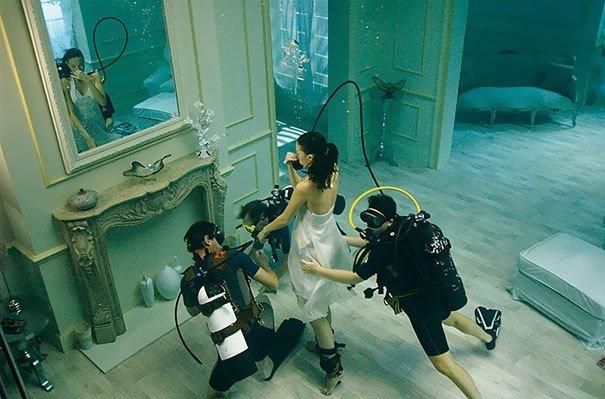 И правда подводная! за кадром, кадры, неожиданно, постановка, постановочные фото, секреты, фото, фотограф