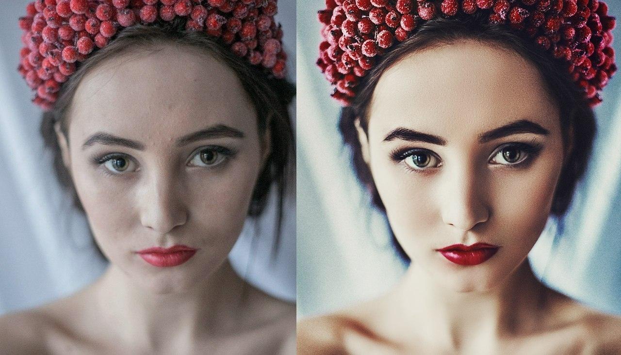 Как сделать красивую картинку онлайн, певице днем