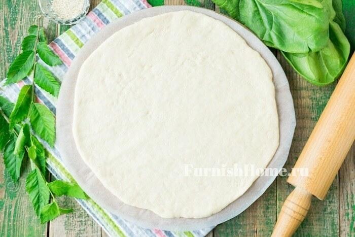 Пирог со шпинатом и брынзой выпечка