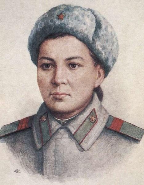 История подвига советской пулеметчицы Маншук Маметовой