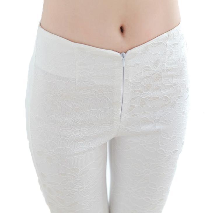 Фото готовых поясов на сшитых женских брюках, вариант 12