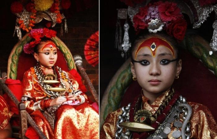 Кумари – земные богини в Непале